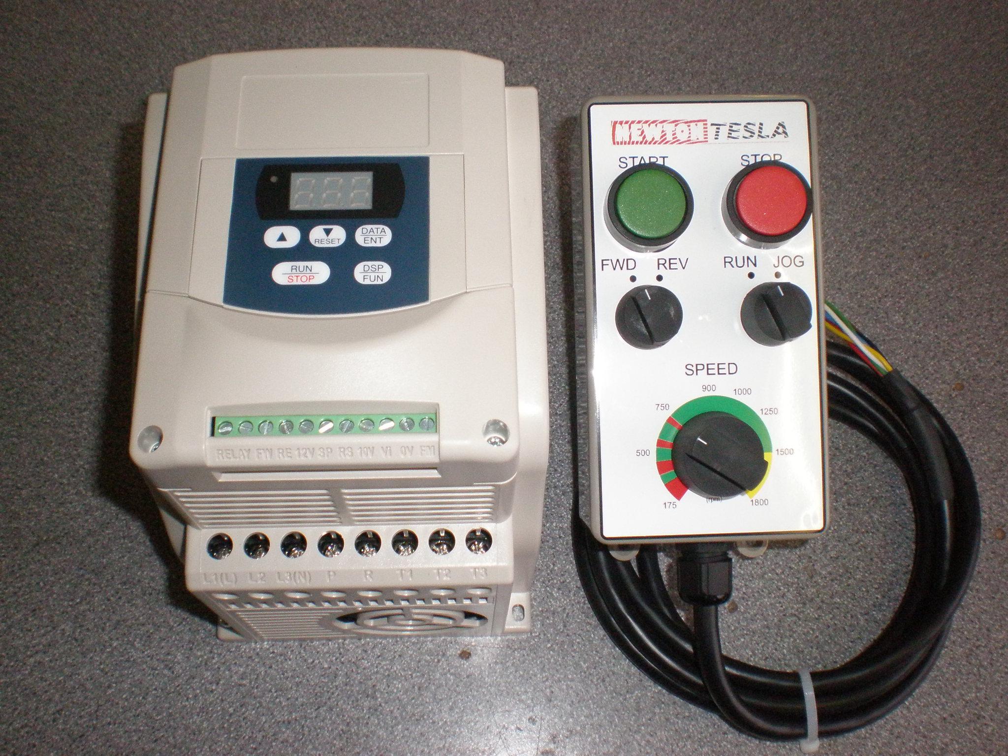 Newton Tesla Lathe Speed Control Warrington 8 On Pendant Station Wiring Diagram Inverter Remote Teco